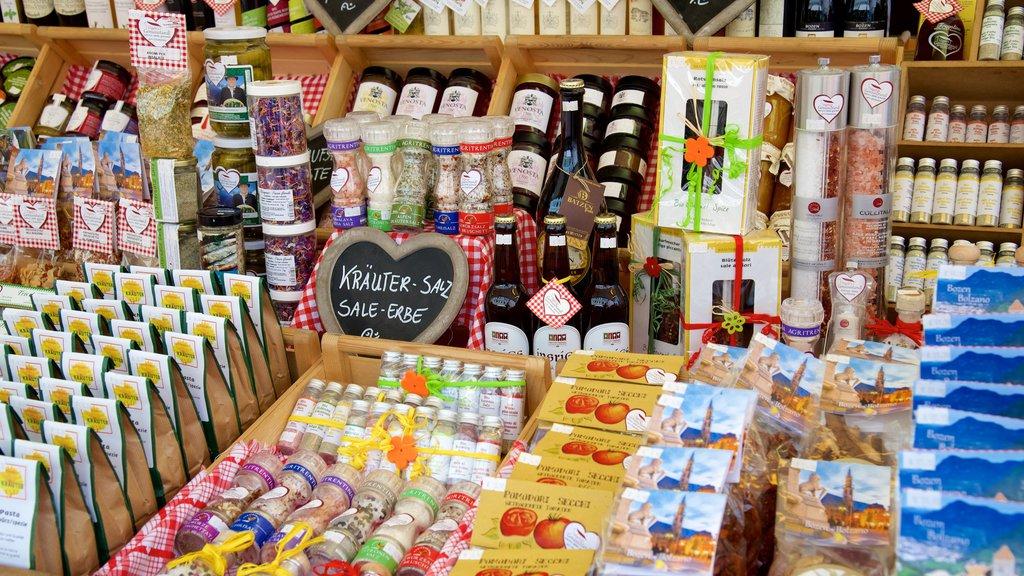 Bolzano showing markets and food
