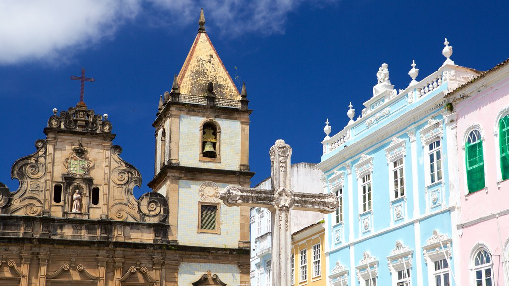Pelourinho featuring heritage architecture and a church or cathedral