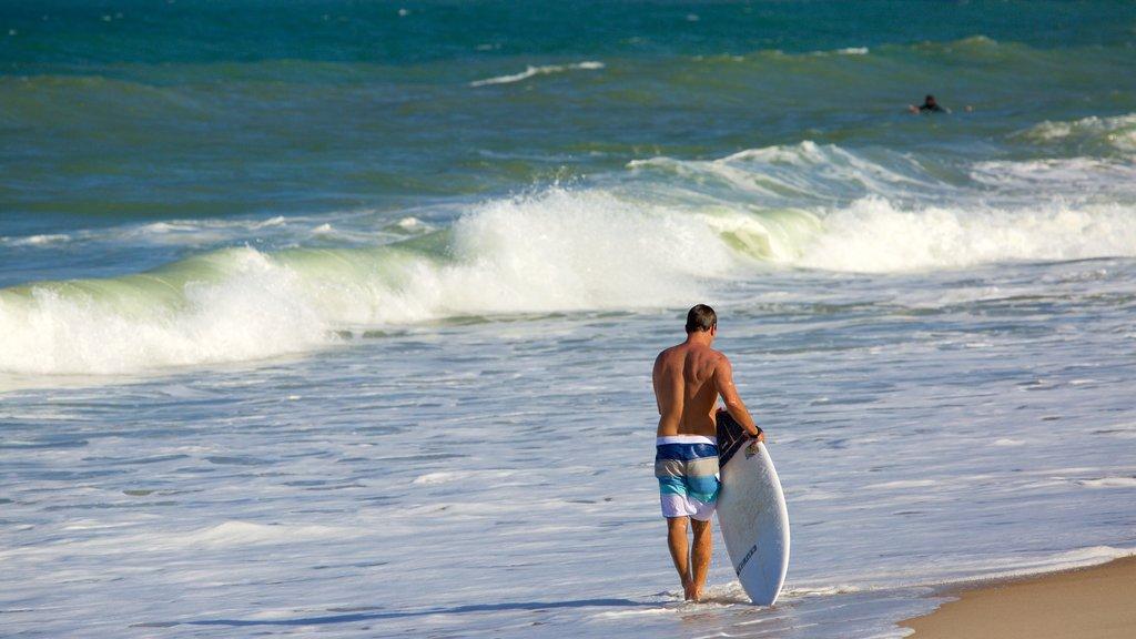 Maracaipe Beach which includes surf, a beach and surfing