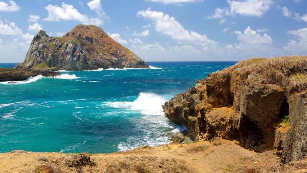 Fernando de Noronha which includes general coastal views and rugged coastline
