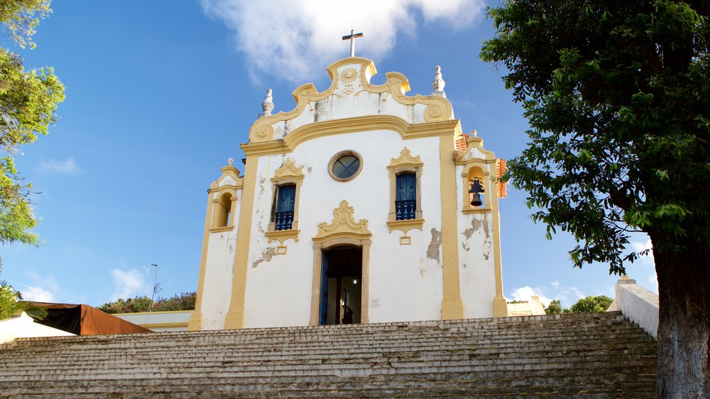 Fernando de Noronha which includes a church or cathedral and religious aspects