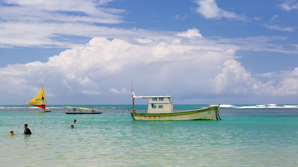 Porto de Galinhas featuring general coastal views, swimming and boating
