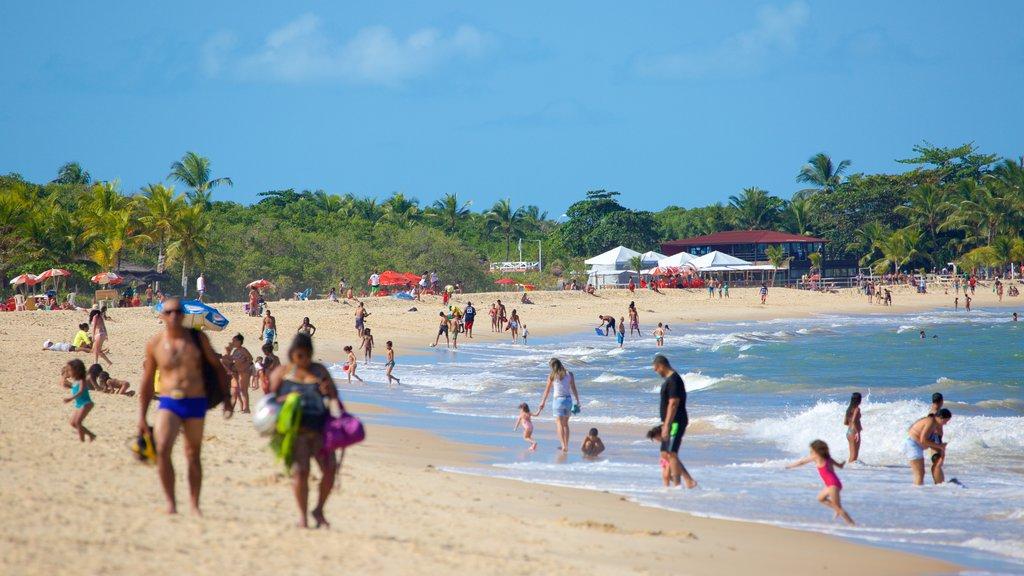 Taperapuan Beach featuring a sandy beach, general coastal views and swimming