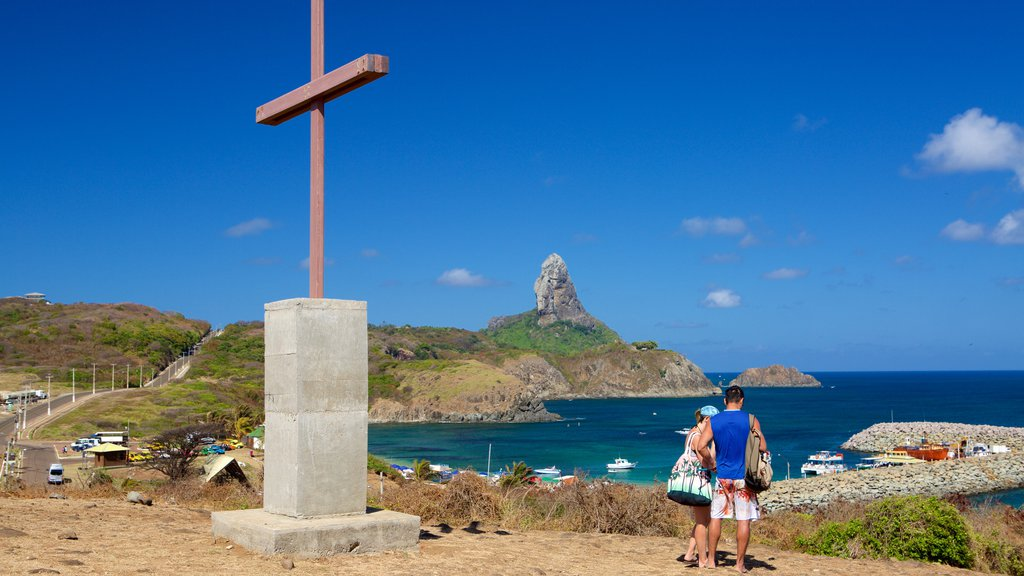 Sao Pedro Chapel featuring general coastal views, mountains and religious aspects