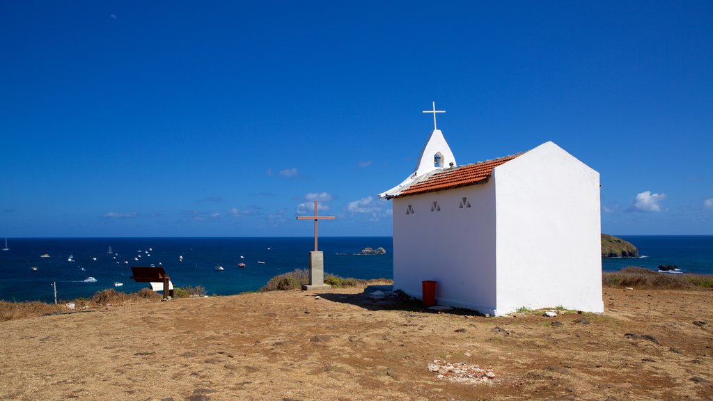 Sao Pedro Chapel which includes religious elements, general coastal views and a church or cathedral