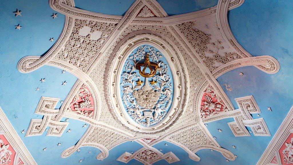 Igreja e Convento de São Francisco de Salvador que inclui vistas internas, uma igreja ou catedral e arte