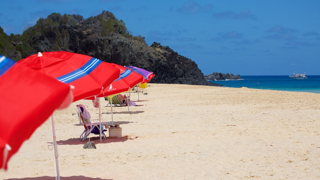 Praia Cacimba do Padre mostrando uma praia de areia e paisagens litorâneas