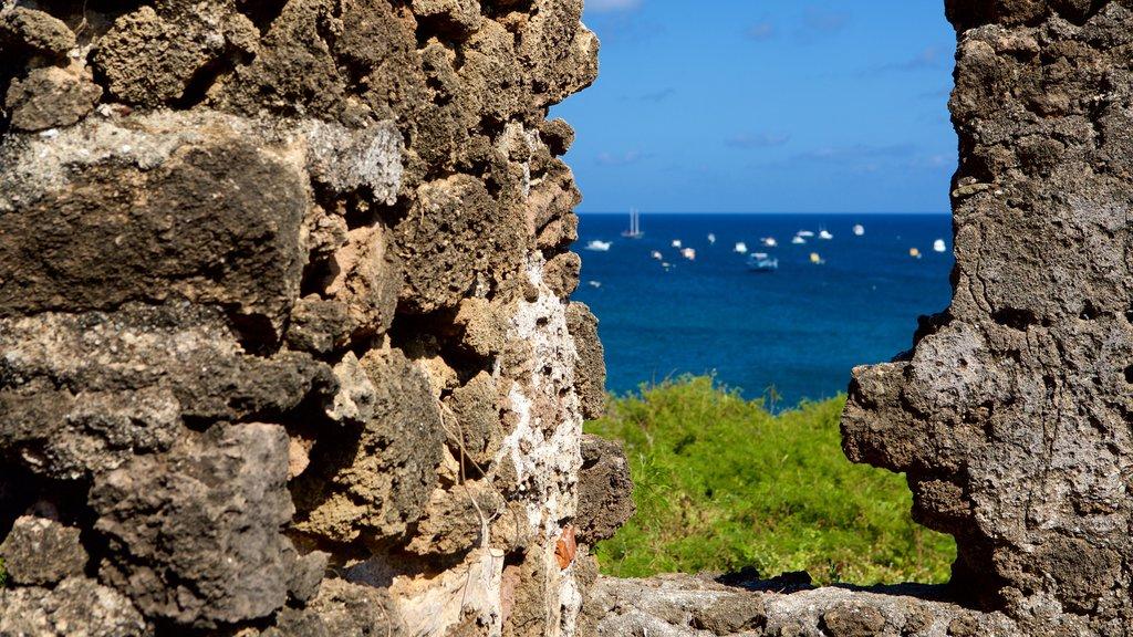 Santo Antonio Fort Ruins featuring a ruin, general coastal views and heritage elements