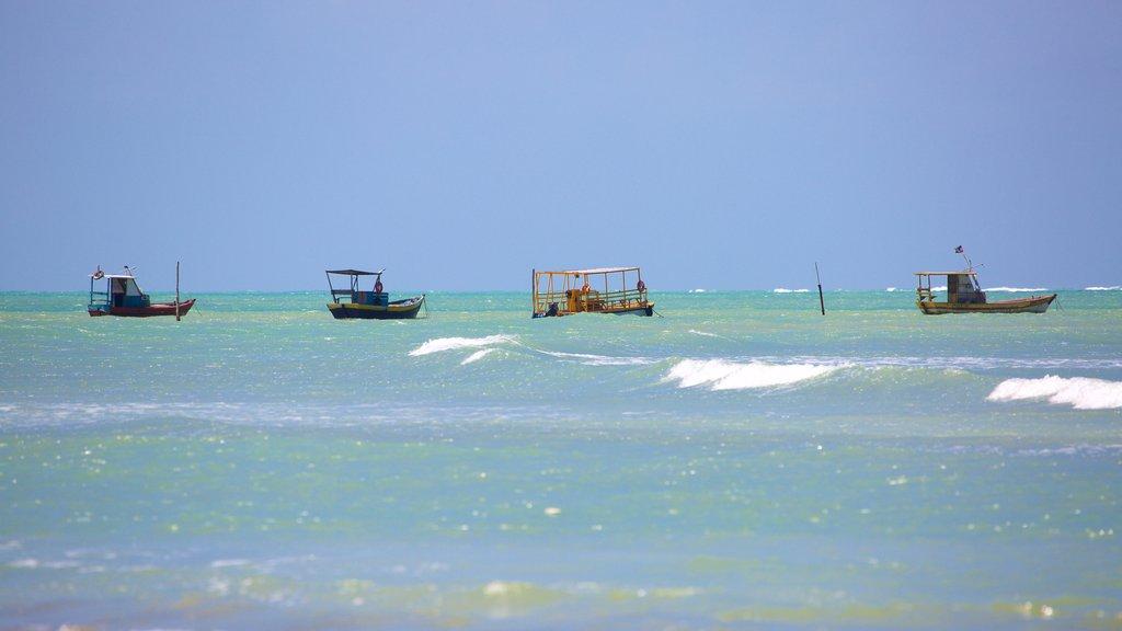 Playa Paripueira mostrando paseos en lancha y vistas generales de la costa