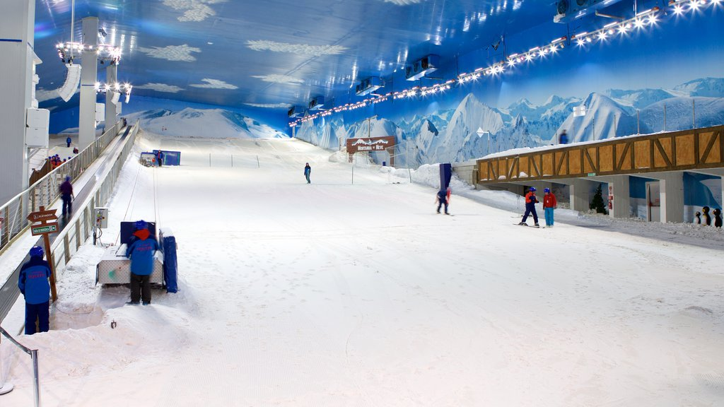 Gramado featuring snow skiing, interior views and snow boarding
