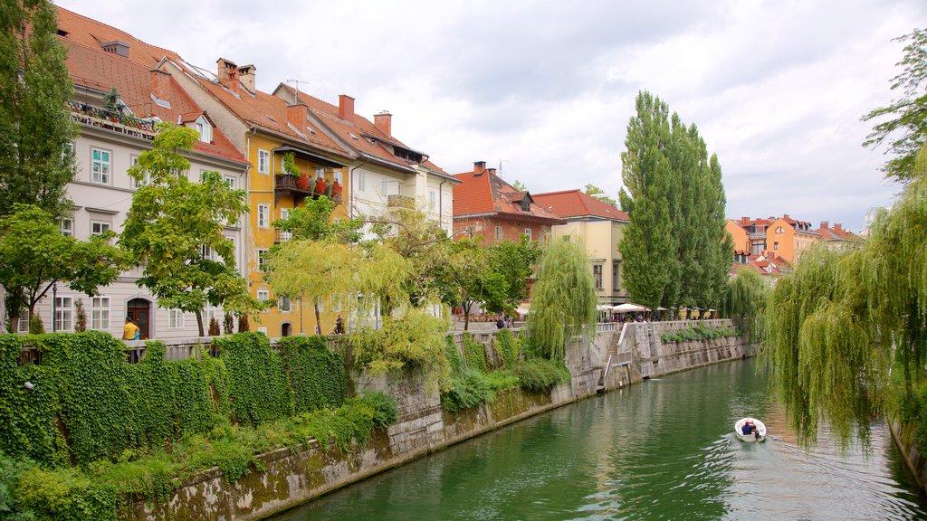 Ljubljana which includes a river or creek