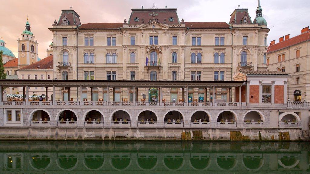 Ljubljana featuring heritage architecture