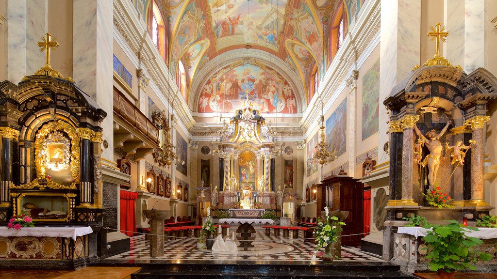 Franciscan Church of the Annunciation featuring heritage elements, art and interior views