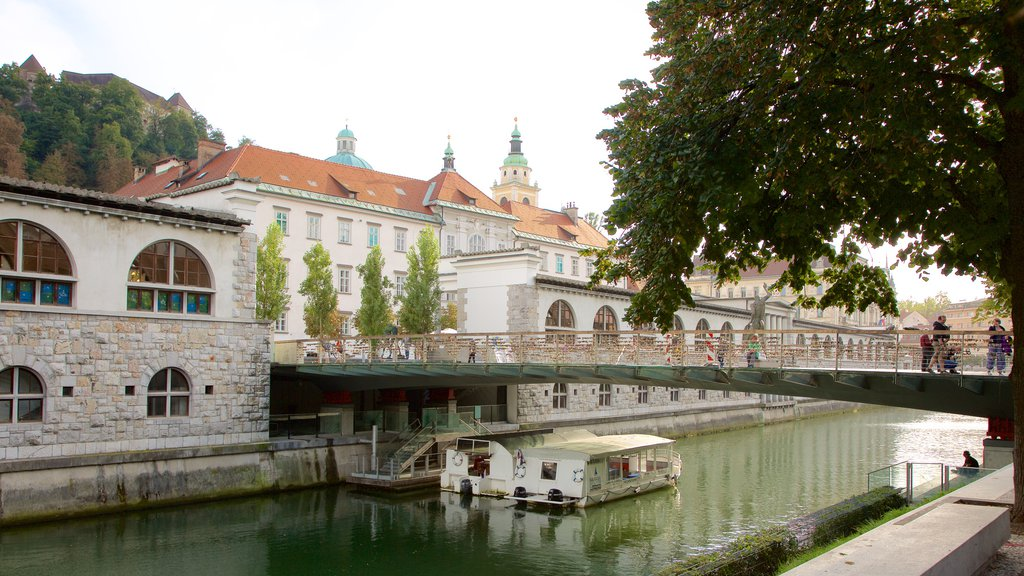 Ljubljana which includes a bridge, a river or creek and boating