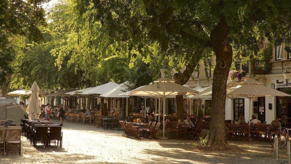 Lubiana ofreciendo comer al aire libre, escenas urbanas y estilo de vida de café