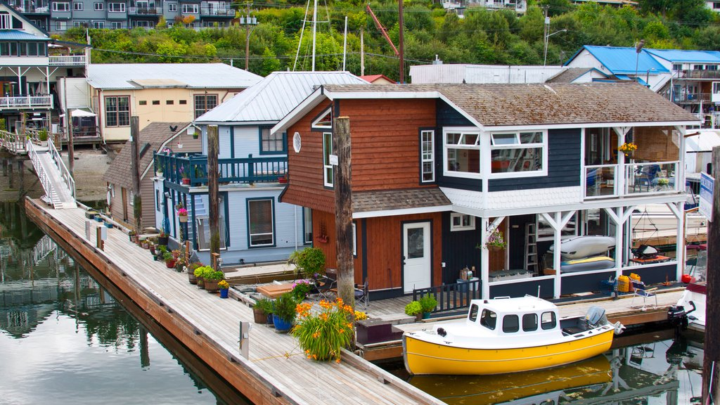 Cowichan Bay featuring general coastal views, a coastal town and boating