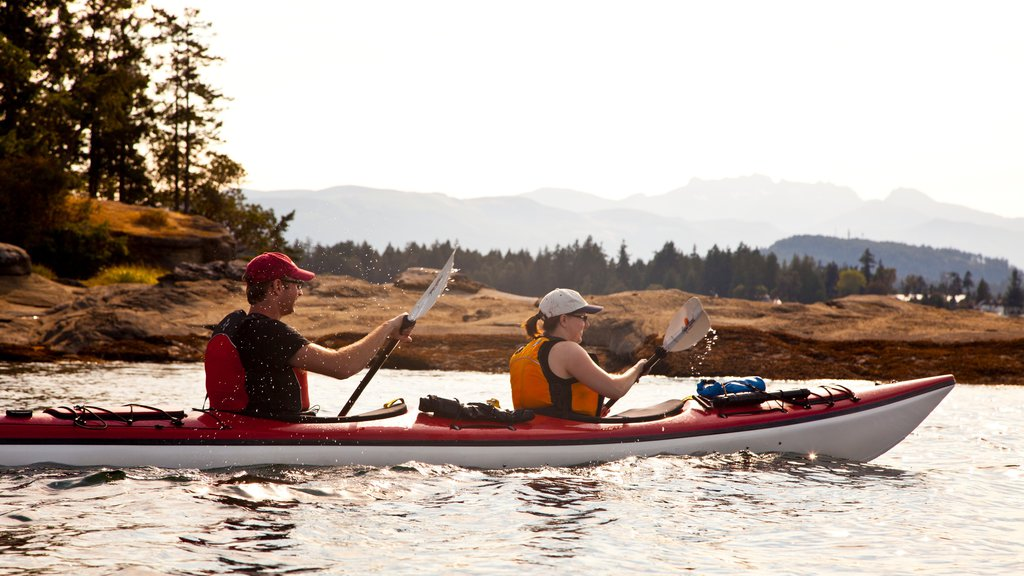Parksville showing kayaking or canoeing and general coastal views