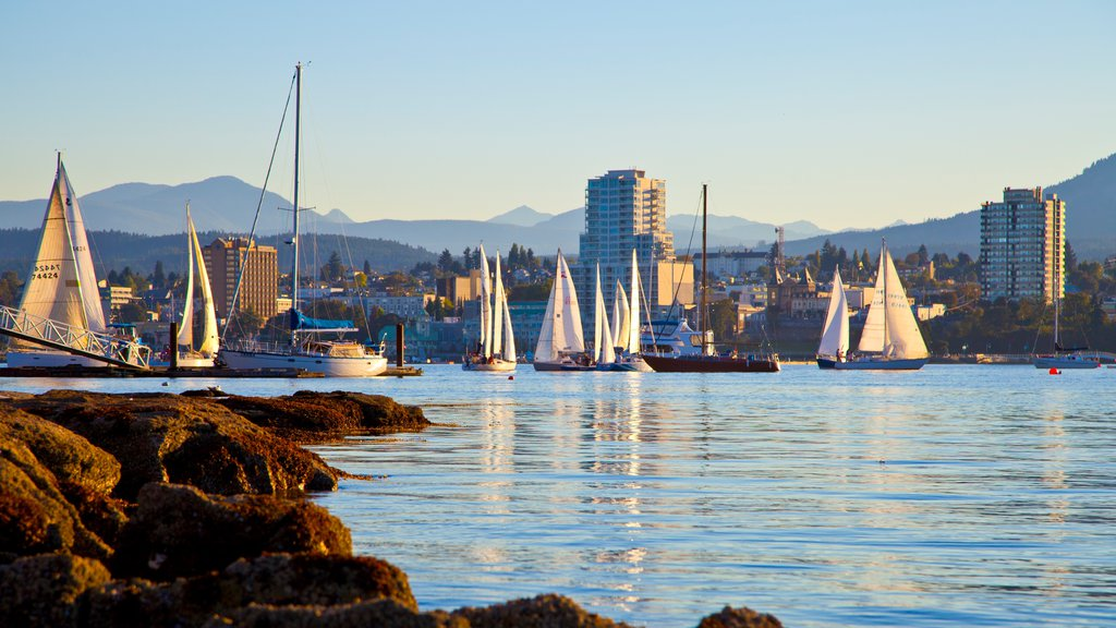 Nanaimo which includes boating, general coastal views and a city