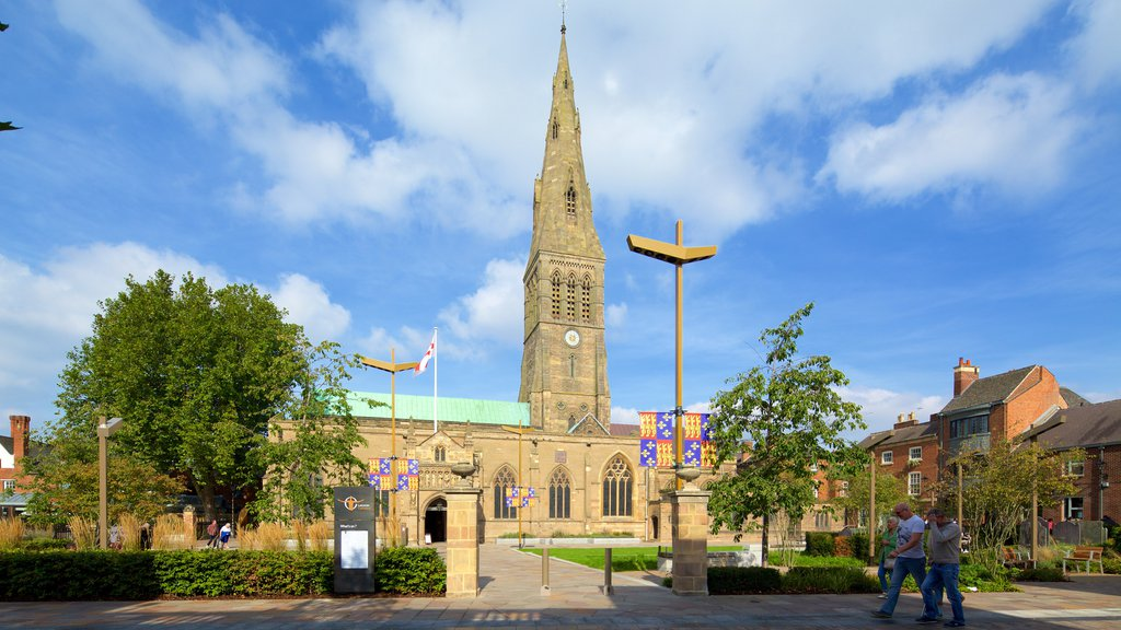 Leicester Cathedral featuring a church or cathedral and heritage architecture