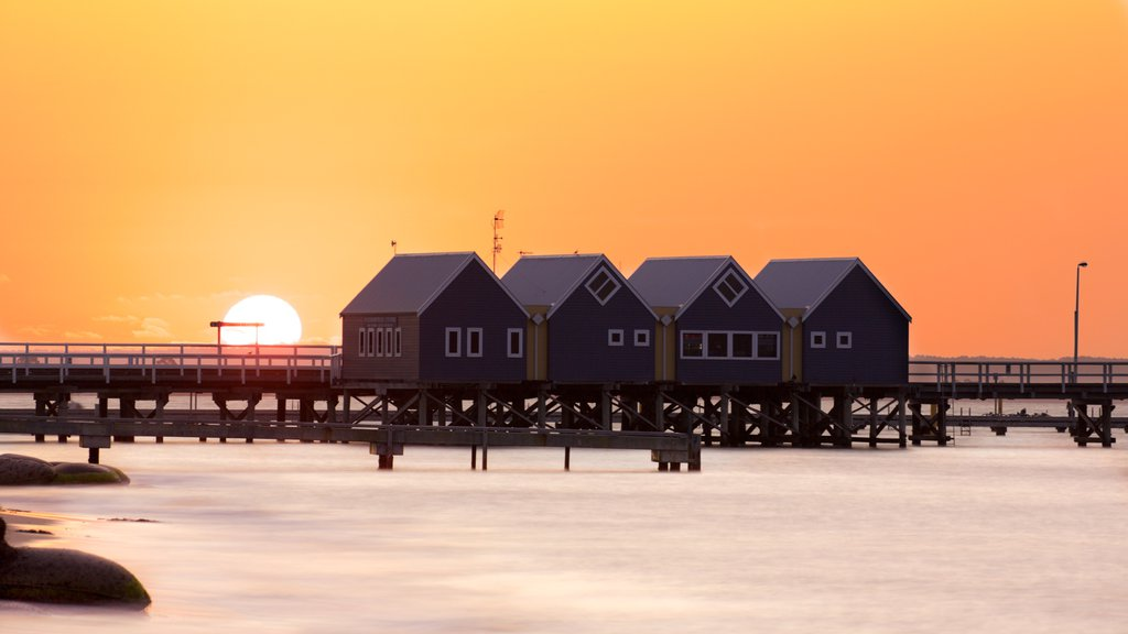 Busselton featuring a sunset and general coastal views