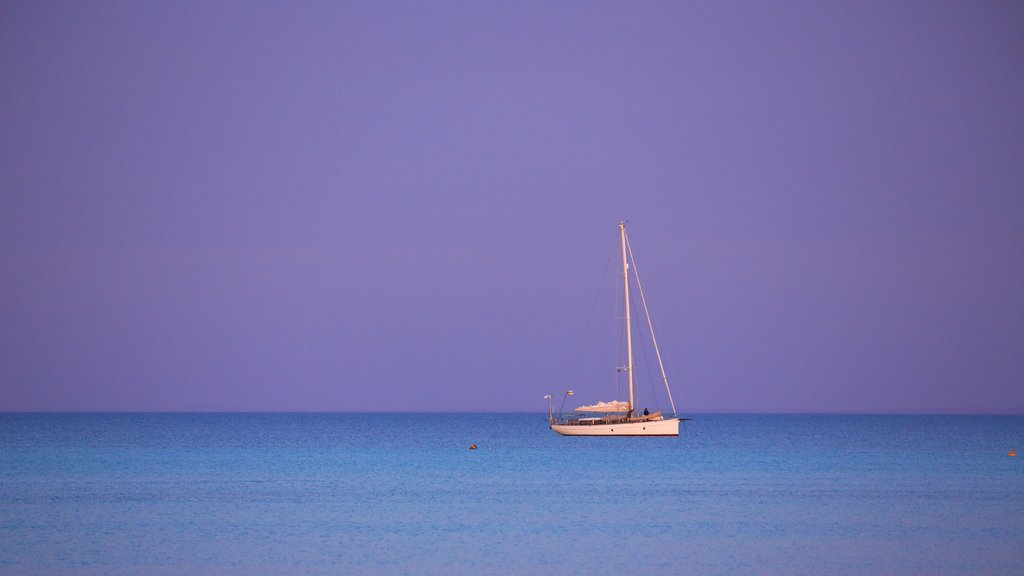 Dunsborough which includes a sunset, boating and general coastal views