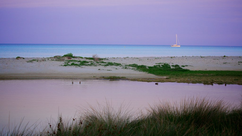 Dunsborough featuring a beach, boating and a sunset