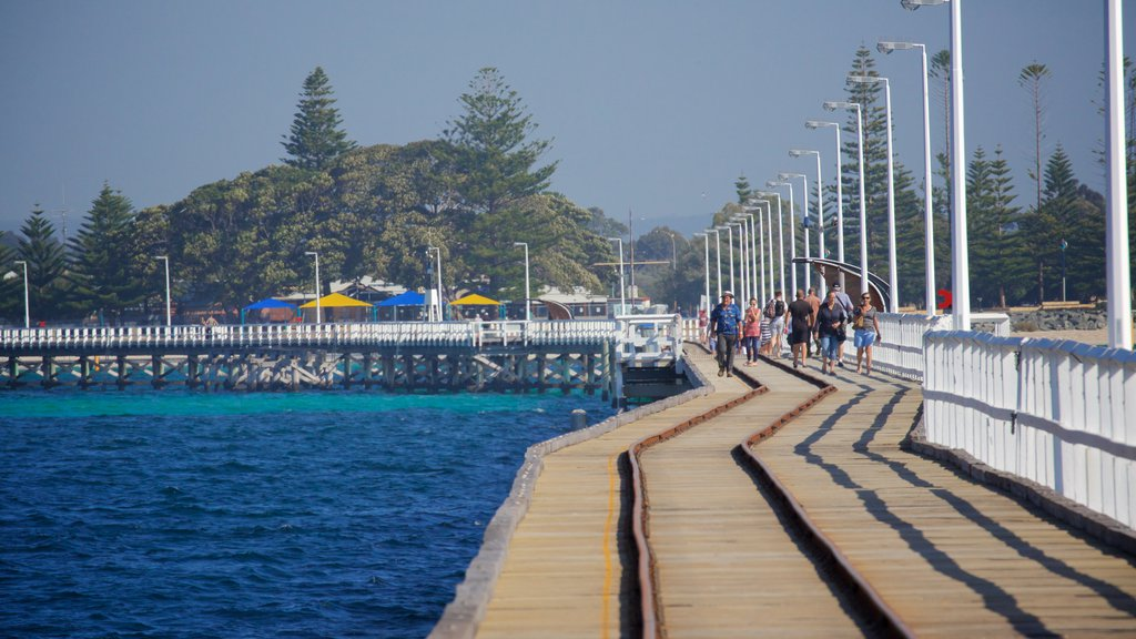 Busselton which includes general coastal views as well as a small group of people