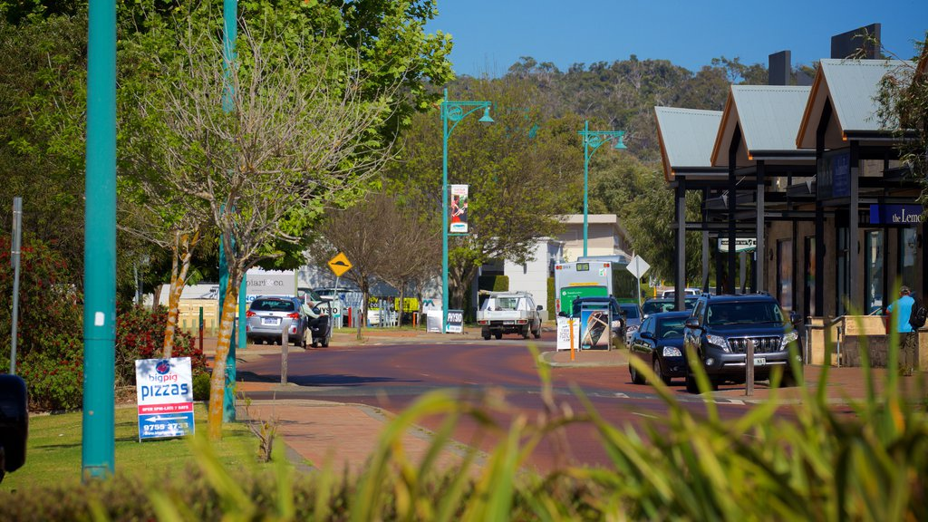 Dunsborough featuring signage, a small town or village and street scenes