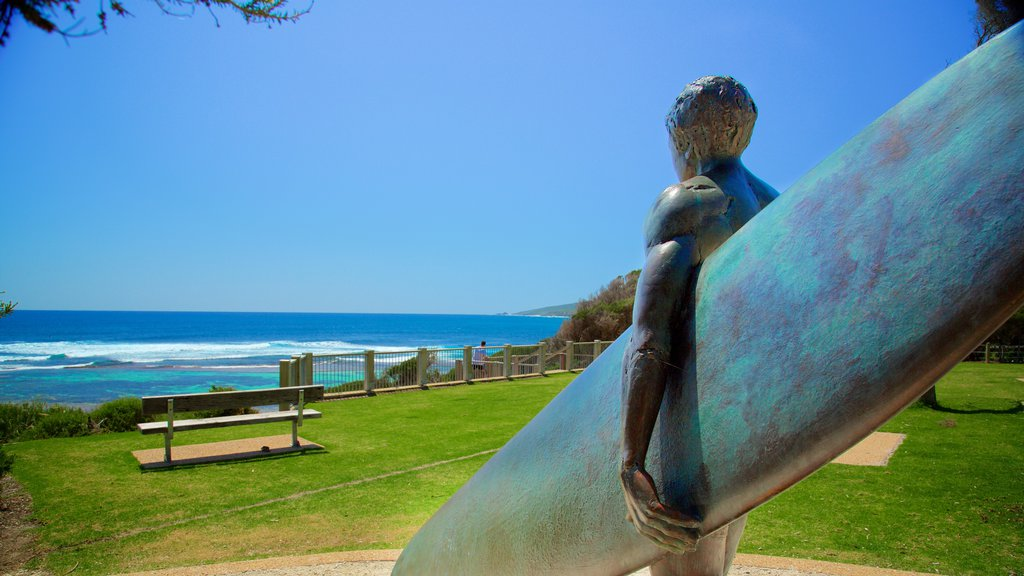 Yallingup which includes a statue or sculpture and general coastal views