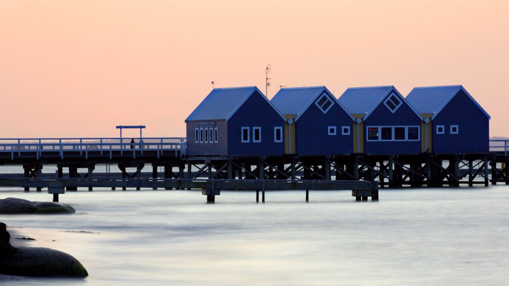 Busselton Jetty which includes general coastal views
