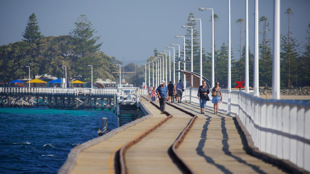 Busselton Jetty showing general coastal views