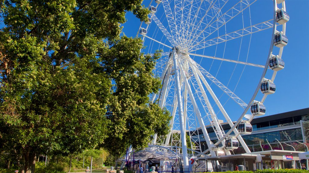Wheel of Brisbane featuring a city and modern architecture