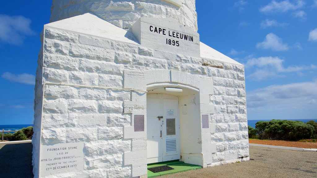 Leeuwin which includes a lighthouse and signage