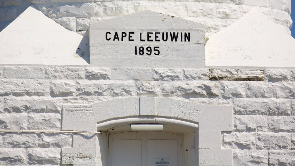 Cape Leeuwin Lighthouse which includes signage