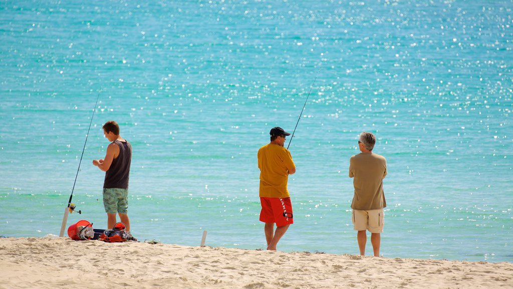 Naturaliste showing fishing and a beach as well as a small group of people