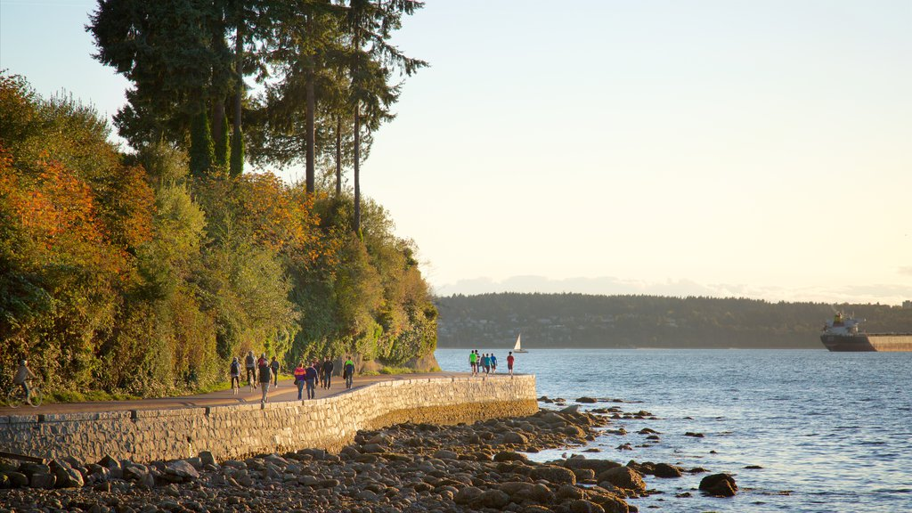 Stanley Park which includes rocky coastline