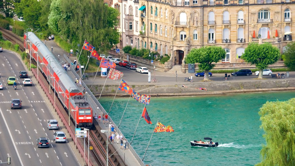 Constance featuring boating, street scenes and railway items