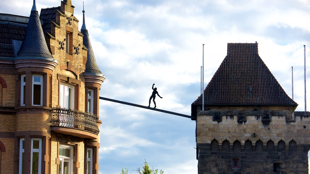 Esslingen featuring outdoor art and heritage architecture