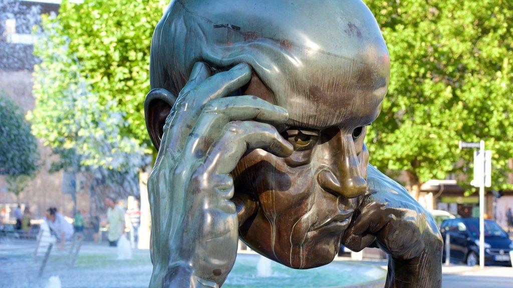 Stuttgart showing a statue or sculpture and outdoor art