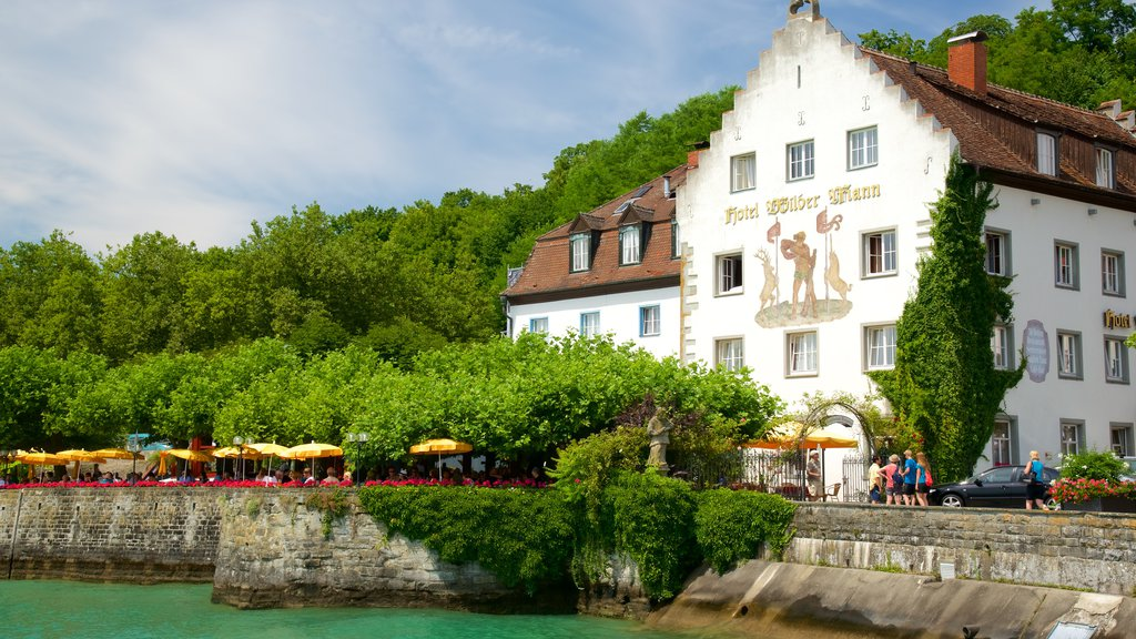 Meersburg featuring outdoor eating and a river or creek