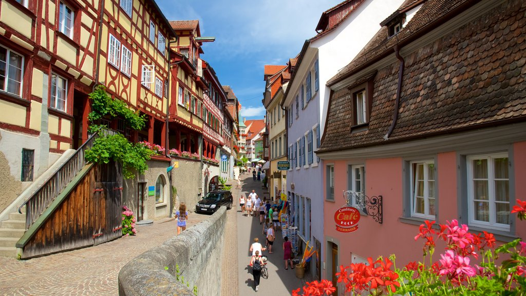 Meersburg featuring a small town or village and street scenes