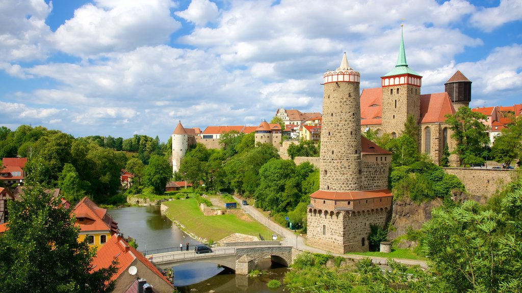 Bautzen which includes a castle and a small town or village