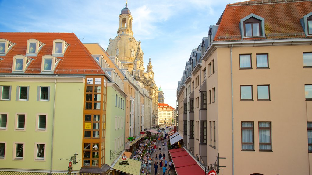 Dresden which includes street scenes