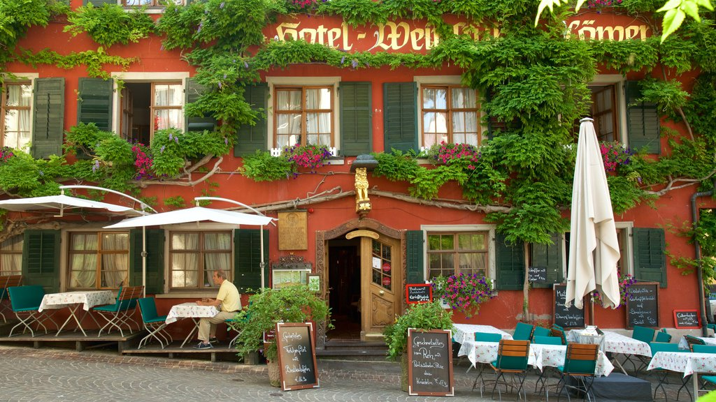Meersburg featuring outdoor eating and cafe scenes