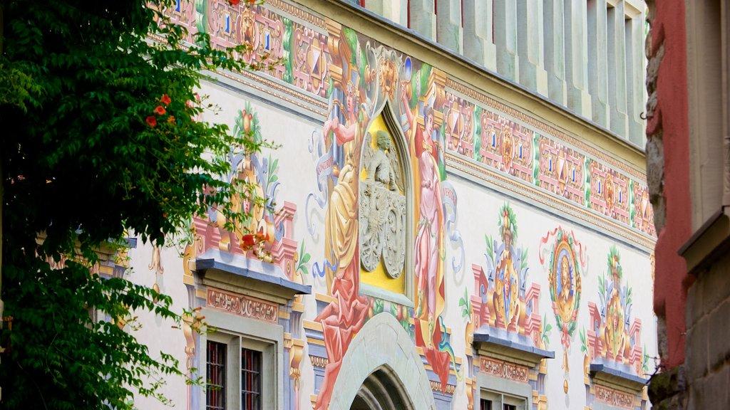 Lindau featuring outdoor art
