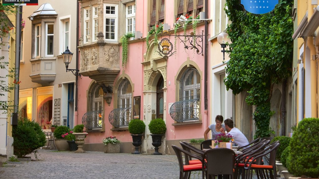 Lindau featuring outdoor eating as well as a couple