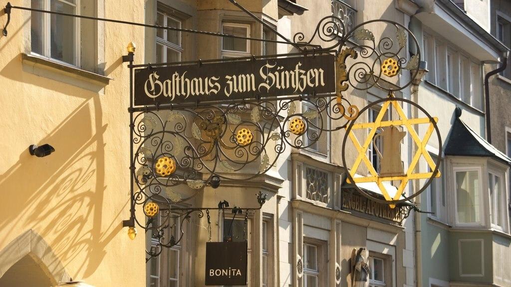 Lindau showing signage