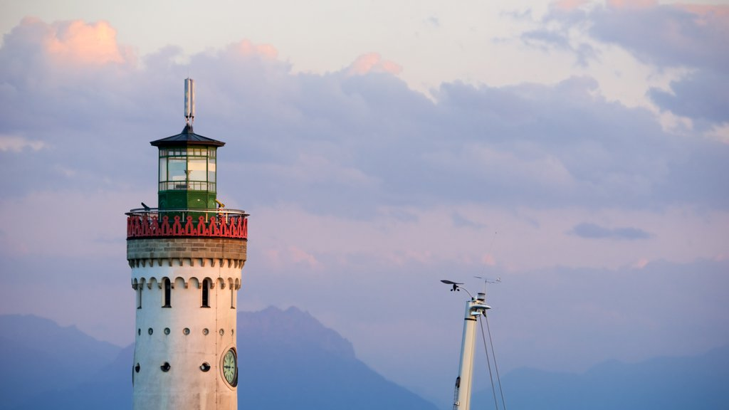 Lindau featuring a lighthouse