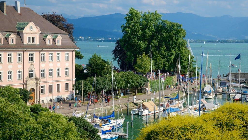 Lindau showing general coastal views and a bay or harbor