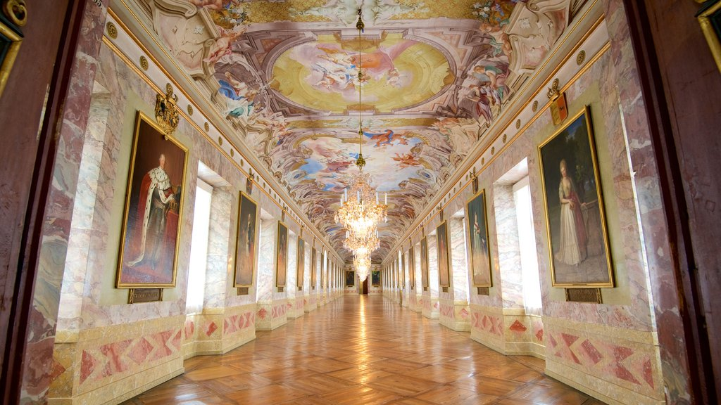 Ludwigsburg Palace which includes chateau or palace, interior views and art